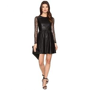 ONLY Sara faux leather lace dress sz 10